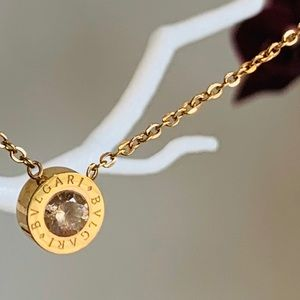 Trendy 18k Gold Plated Charm Short Chain Necklace